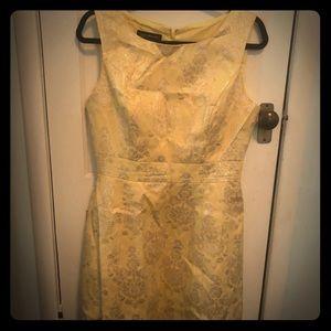 Vintage inspired gold dress.